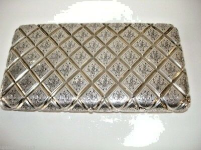 antique STERLING SILVER cigar case IMPERIAL RUSSIAN Moscow SIGNED AVDEYEV 8+ oz.