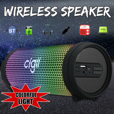 Wireless Bluetooth Speaker Portable USB FM Aux Stereo Super Bass Outdoor Music