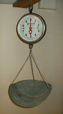 Vintage Jacobs Detecto Hanging Scale 10 Pounds