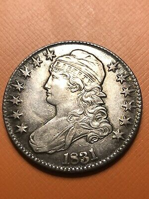 1831 U.S. Capped Bust Half Dollar AU Beautiful Detail And Toning