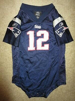 NEW ENGLAND PATRIOTS Reebok Tom Brady  12 NFL Football Jersey-Size L ... a8f3bb32e