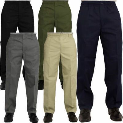 Mens Casual Rugby Trousers Plus Size Pants Elasticated Waist Work Rugby Trousers