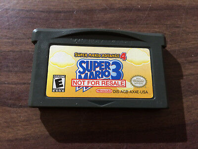 Super Mario Advance 4 (Game Boy Advance, GBA) Not For Resale -- NFR -- Authentic