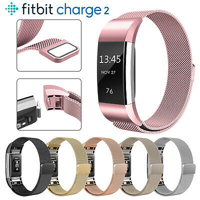 For Fitbit Charge 2 Strap Replacement Milanese Band Stainless Steel Magnet GLTZ
