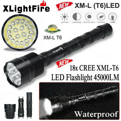 90000LM 14x T6 LED 5 Modes 18650 Led Flashlight Super Bright Torch Light Hunting