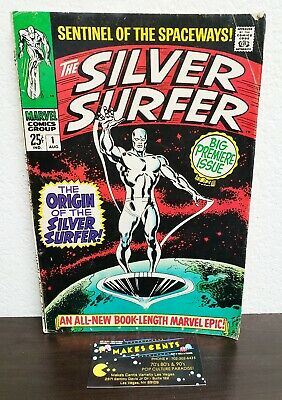 1960s - Silver Surfer #1 Vol 1 Key Issue Debut- Origin of the Silver Surfer 1968