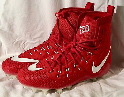 639d8c6e2cc7 NEW Nike Force Savage Elite TD Football Cleats SIZE 15 Red/White 918345-615