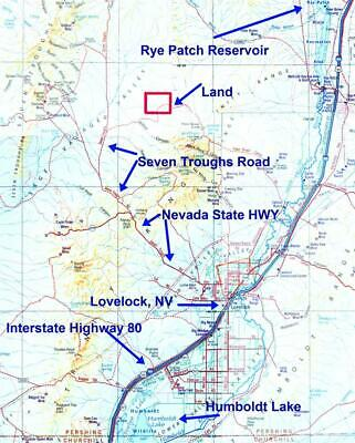 NEVADA 40 Acre $195/mo BURNING-MAN LAKE RESERVOIR RENO LOVELOCK CREEK 1200ac BLM
