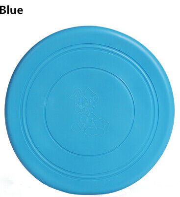 1Pc Blue Dog Frisbee Toy Soft Silicone Pet Training Throwing Flying Disc Toys