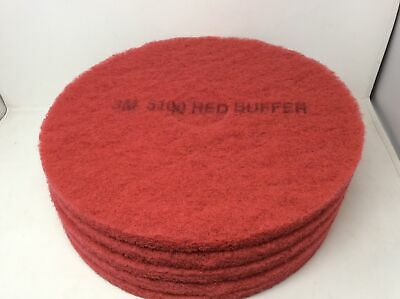 """(Closeout) 3M 8392 Red 17"""" Buffer Pads, Case of 5"""