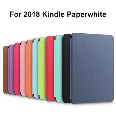Ultra Slim Smart PU Leather Cover Case For 2018 New Amazon Kindle Paperwhite 4 -