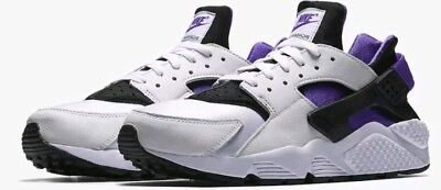 1807e2b2e9f1 Nike Air Huarache Run  91 QS WHITE PURPLE PUNCH GRAPE BLACK ALL AH8049-001