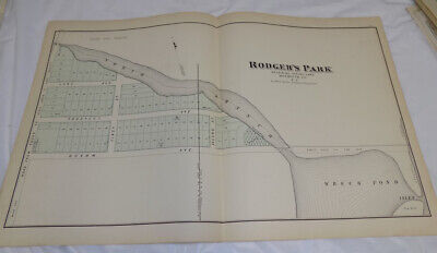 1878 Antique NEW JERSEY Town Map//RODGER'S PARK, BY SPRING LAKE, MONMOUTH COUNTY