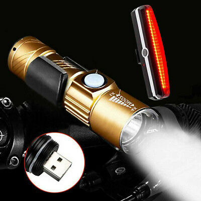 USB Rechargeable XPG-R5 LED LED  Bike Bicycle Cycle Head Front Light  Lamp Set