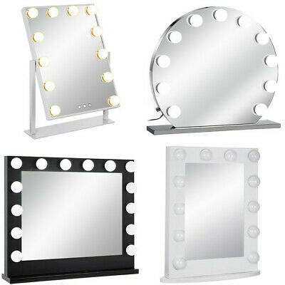 Hollywood Makeup Vanity Mirror with Light Dimmer Cosmetic Beauty Stage