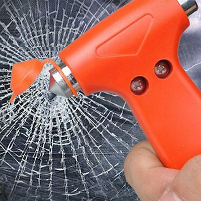 2 in 1 Car Window Breaker Emergency Hammer Seat Belt Cutter Safety Escape Tool