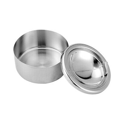 Ashtray Stainless Steel Silver Cigarette Round Tone Portable Lid Home Windproof