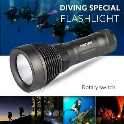 5000LM XM-L T6 LED Underwater 500M Diving Flashlight IPX8 Waterproof 18650 Torch