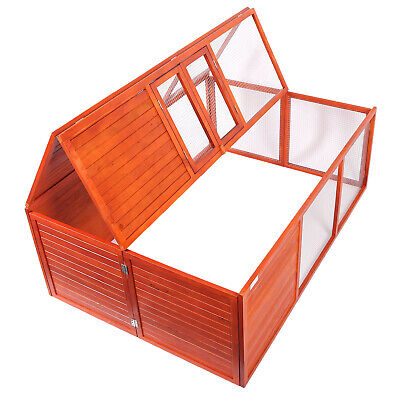 Rabbit Hutch foldable Outdoor Enclosure Guinea Pig Small Animal Rodent Cage