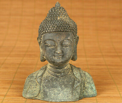 blessing rare old bronze hand carved buddha statue collectable home decoration