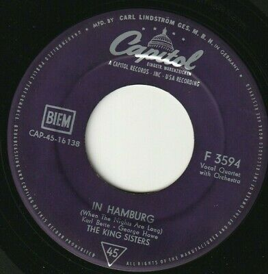 """The King Sisters - In Hamburg / While The Lights Are Low German 7"""" 45 DE"""