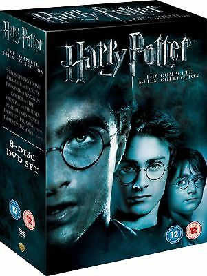 Harry Potter 1-8 Movie DVD Complete Collection Films Box Set  NEW REGION2
