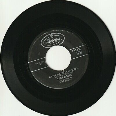 """Nick Noble - They're Playing Our Song / A Fallen Star Sweden 7"""" 45 SW"""