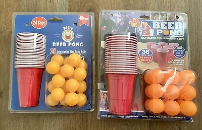 79pc Beer Pong 2x Set Drinking Game Alcohol American Red Cup Beerpong Frat Party