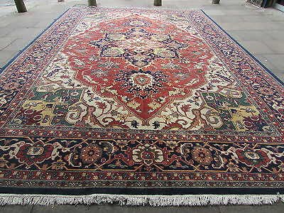 Old Traditional Hand Made IndoPERSIAN Oriental Wool Red Large Carpet 536x365cm