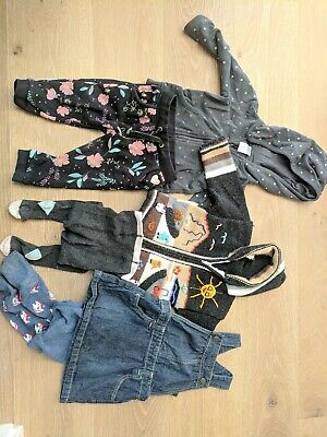 Girls bulk buy, 6 items, hoodies, pinafore, tights, target, cotton on, Size 1