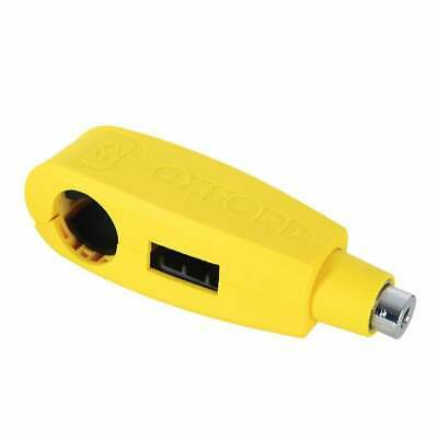 Oxford Motorcycle Security Universal Handlebar Lever Lock - Yellow (LK301)