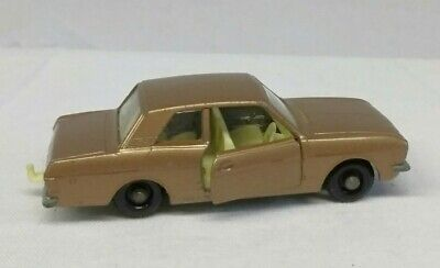 Vintage Lesney Matchbox No 25 Brown Ford Cortina Autosteer Diecast Toy Car