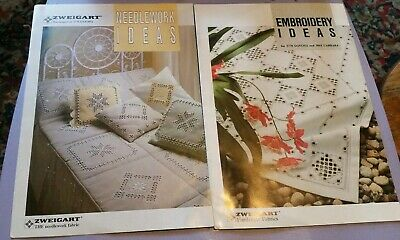 Hardanger Embroiderry Pattern Book And Leaflet Zweigart Fabrics