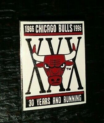 d88fc4a30 Nba Chicago Bulls Basketball 1966-1996 30 Years And Running Collectible Pin  Rare