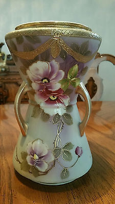 Exqusite Large  Nippon 3 Handled Vase  with Gold Trim SALE!!