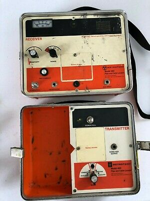 Metrotech 480 Pipe & Cable Locator  transmitter and receiver  Nice Condition