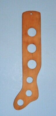 Child's Early Primitive 6 Hole Wooden Sock Dryer Stocking Stretcher Size 4 1/2