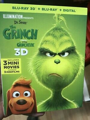 The Grinch 3D +  Blu Ray + Dig Copy  Brand New