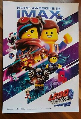 """THE LEGO MOVIE 2 Official Movie Poster 13"""" x 19"""" IMAX PREMIERE NIGHT PROMO"""
