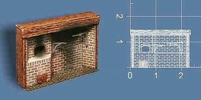 Braxton Payne Colonial Walk In Fireplace 1:48 / Quarter Scale - Signed - New