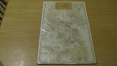 1900 Vintage Philippine Islands Map Full Color Backed On Cardboard 14 X 22 Inch