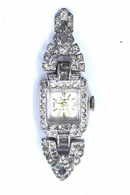 Antique Art Deco Ladies Sheffield Swiss Wristwatch Fancy Marcasite Case