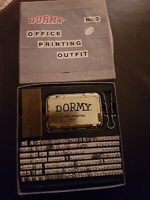 dormy office printing outfit number 3.good cond.box good. VINTAGE OFFICE SUPPLY.