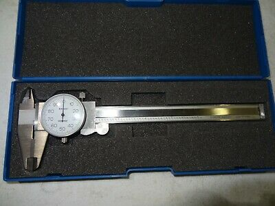 "100-020 New 100-020 Graduations .001/"" 0-6/"" Shock Proof Dial Caliper iGaging"