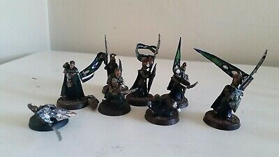 LOTR Warhammer Lord of the Rings High Elf Command heroes 8 characters painted