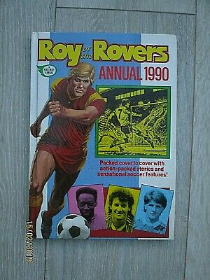 Vintage Roy of the Rovers Annual Dated 1990 Not Price Clipped