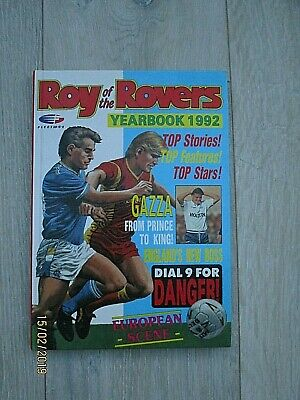 Vintage Roy of the Rovers Annual Dated 1992 Not Price Clipped