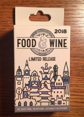Disney Epcot Food & Wine Festival Mystery Collection Pin Box (2 Pins In Box)