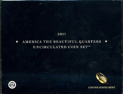 2011 America The Beautiful Quarters Uncirculated 10-Coin Set