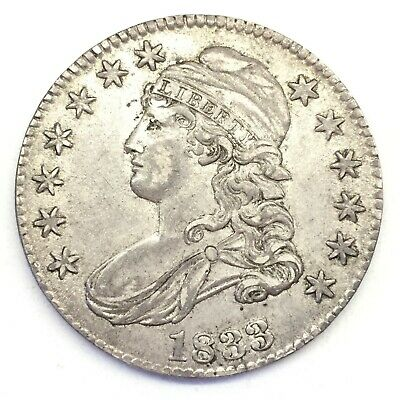 1833 50C Capped Bust Half Dollar: XF-AU Condition